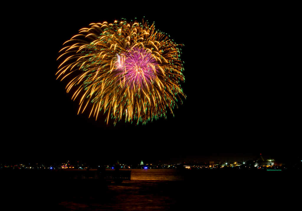 City of Alexandria fireworks, in celebration of Alexandria's birthday.